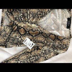 AKIRA Tops - AKIRA Snakeskin Longsleeve Crop Top - Size S (NEW)
